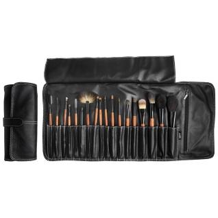 Профессиональные кисти для макияжа - Набор JEANS на 18 кистей для макияжа в черном кофре на клипсе-2148230