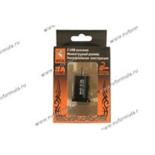 Прикуриватель разветвитель для USB MYSTERY MUC-2/3A-432787