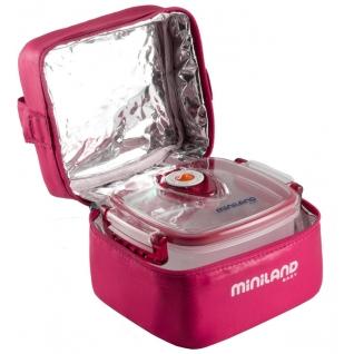 Термосумка Miniland Термосумка с 2 вакуумными контейнерами розовая