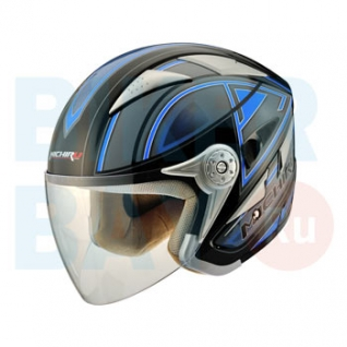 Шлем (открытый) MO 126 Stroke Blue (Размер L) MICHIRU-2154697