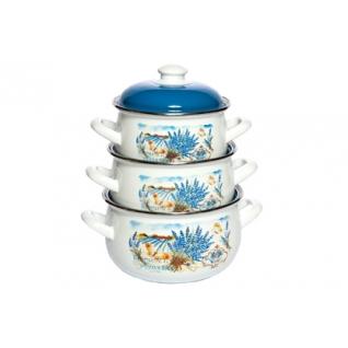 Набор эмалированный 3 предмета Лаванда-37650160