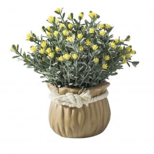 Декоративные искусственные цветы в горшочке-7170118