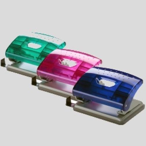 Дырокол Office Force Transparent,зеленый прозр,16л,2отв d6мм-6817226