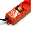 Фильтр-удлинитель Power Cube 3,0 м 6 розеток (красный) 10А/2,2кВт