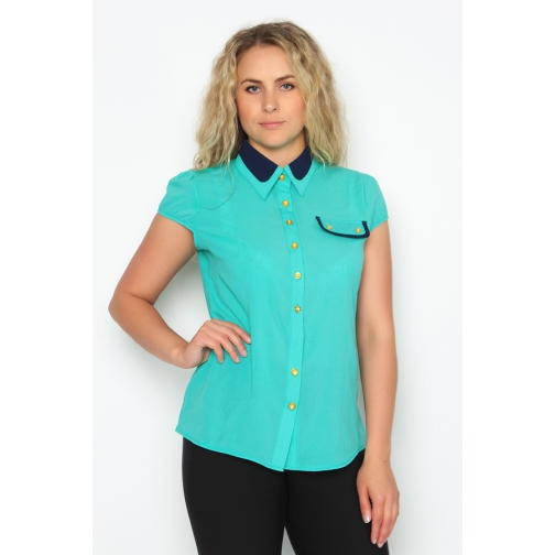 Блуза с коротким рукавом 44 размер-6684786