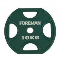 Foreman Диск X-Training уретановый цветной FOREMAN FM/UPX-10KG-GN (10 кг)