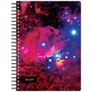 Бизнес-тетрадь 120л,А4,Space Galaxy,300х210мм,70г/квм,белый,карман-40102130