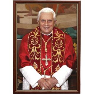 Портрет Папы Бенедикта Шестнадцатого в рамке и со стеклом. 30х40-6434379