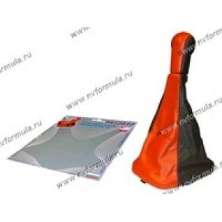 Ручка КПП 2110-12 Сфера кожзам+чехол красная-430454