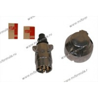 Разъем прицепа вилка+розетка 12В металл 7контактов-9061060