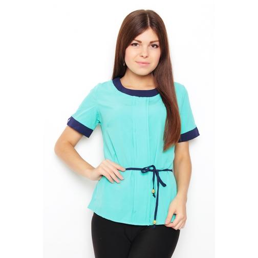 Блуза с коротким рукавом 46 размер-6683451