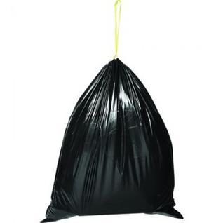 Мешки для мусора ПВД 180л 80x100см 60мкм черные 5шт/рул Attache
