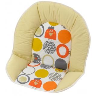 Вставка для стула Geuther Мягкая вставка для стульев Family, Filou бело-желтая с кружками (цвет 126)-1962621