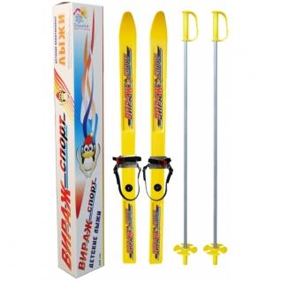 """Детские лыжи """"Вираж-спорт"""" с палками, 100 см Цикл-37748065"""