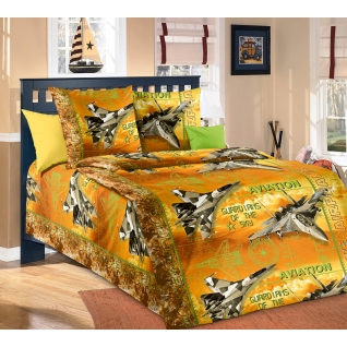 Комплект Детского постельного белья Стражи неба 1,5 спальный, оранжевый-37659497