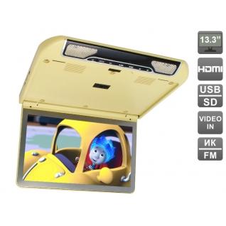 """Автомобильный потолочный монитор 13.3"""" со встроенным FULL HD медиаплеером AVIS AVS440MPP (бежевый) Avis-833420"""