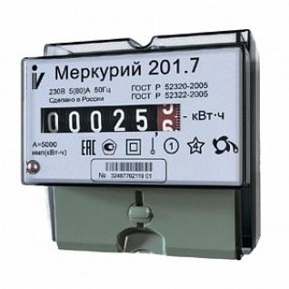 Электросчетчик Меркурий 201.7 однотарифный-1427449